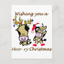 Moory christmas holiday postcard