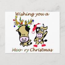 Moory christmas holiday postcard