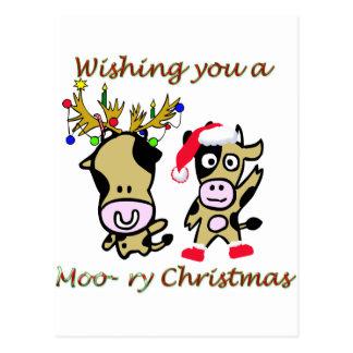 Moory christmas post card
