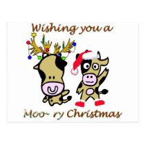Moory christmas postcard