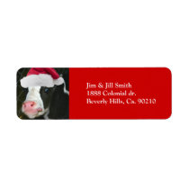 Moory Cow Christmas Label
