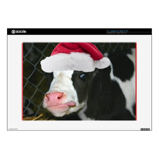 Moory Cow Christmas Laptop Decals