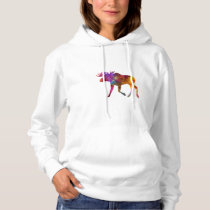 Moose 02 in watercolor hoodie