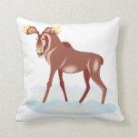 Moose 2 throw pillow