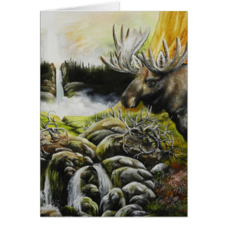 Moose~ A Painting on customizable products Card