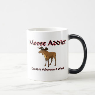 Moose Addict 11 Oz Magic Heat Color-Changing Coffee Mug