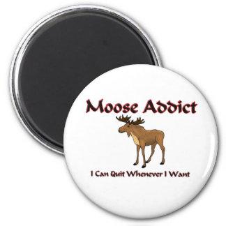 Moose Addict 2 Inch Round Magnet