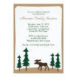 MOOSE Adirondack Lodge 5x7 Party Invitation