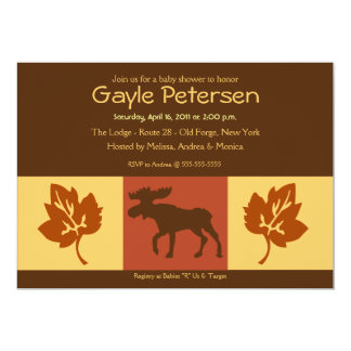 MOOSE Adirondack Lodge Rustic theme Baby Shower Card