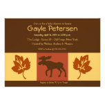 MOOSE Adirondack Lodge Rustic theme Baby Shower Personalized Invitation