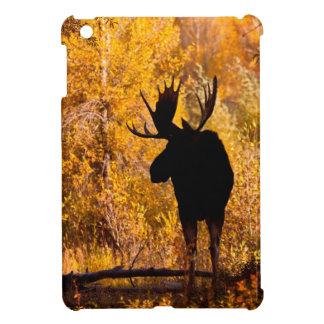 Moose (Alces Alces) Bull In Golden Willows 2 iPad Mini Cover