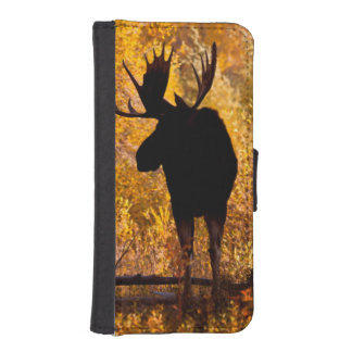 Moose (Alces Alces) Bull In Golden Willows 2 iPhone SE/5/5s Wallet
