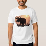moose, Alces alces, bull with large antlers, T Shirts