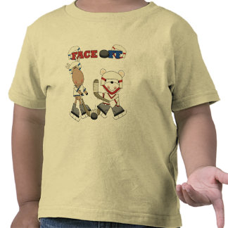 Moose and Bear Hockey Face Off Tshirts and Gifts