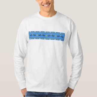 Moose and Crowns Fair Isle pattern by Griffin Gear T-Shirt
