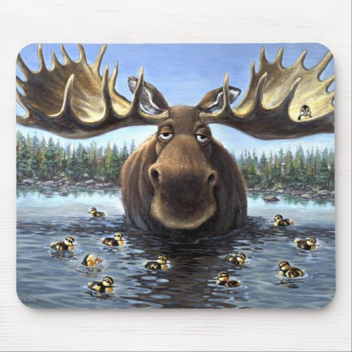 Moose and Friends Mousepad