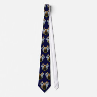 Moose and mountain goats neck tie