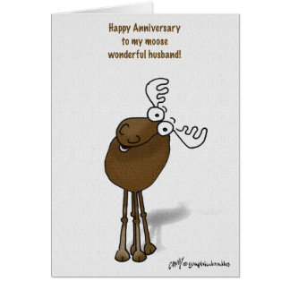 moose anniversary card