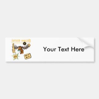 Moose Antler Coat Hanger - Funny New Gift Bumper Sticker