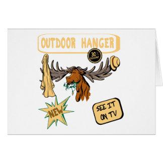 Moose Antler Coat Hanger - Funny New Gift Stationery Note Card