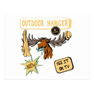 Moose Antler Coat Hanger - Funny New Gift Postcard