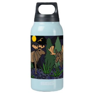Moose Art Abstract Insulated Water Bottle