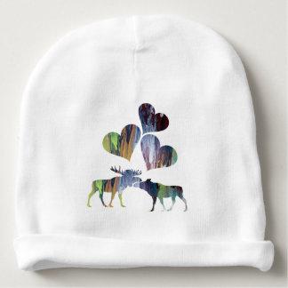 Moose Art Baby Beanie