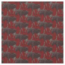 Moose Art Fabric Wildlife Fabric Cotton or Poly