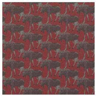 Moose Art Fabric Wildlife Fabric Cotton or Poly