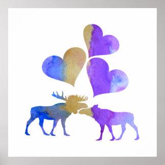 Moose Art Poster