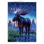 Moose At Dawn Greeting Cards