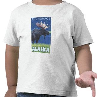 Moose at Night - Anchorage, Alaska Shirt