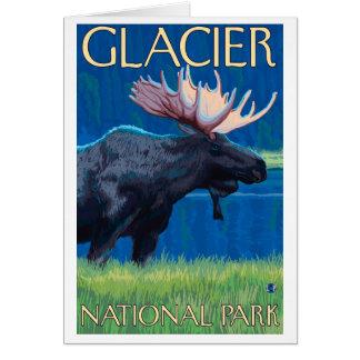 Moose at Night - Glacier National Park, MT Card
