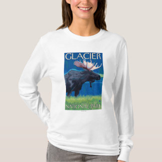 Moose at Night - Glacier National Park, MT T-Shirt