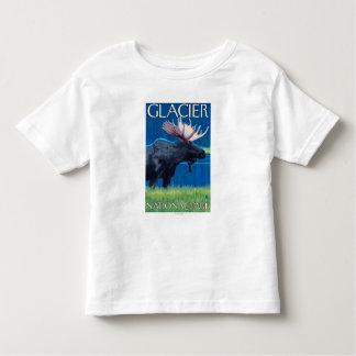 Moose at Night - Glacier National Park, MT Toddler T-shirt