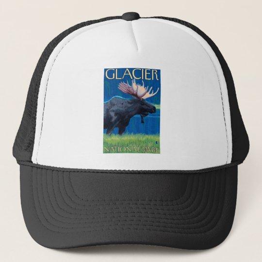 Moose at Night - Glacier National Park, MT Trucker Hat