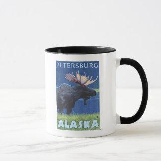 Moose at Night - Petersburg, Alaska Mug