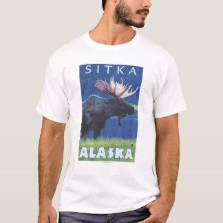 Moose at Night - Sitka, Alaska T-Shirt