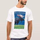 Moose at Night - West Yellowstone, Montana T-Shirt