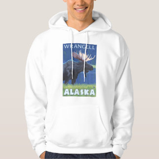 Moose at Night - Wrangell, Alaska Hoodie
