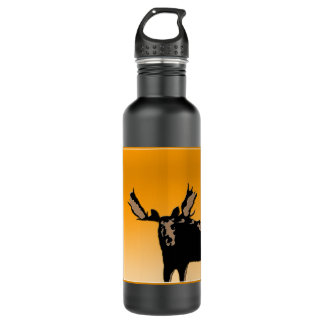 Moose at Sunset Stainless Steel Water Bottle