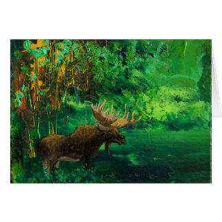 Moose Autumn Card