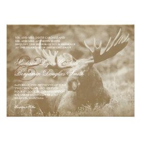 Moose Big Game Wildlife Antlers Wedding Invitation Invitation
