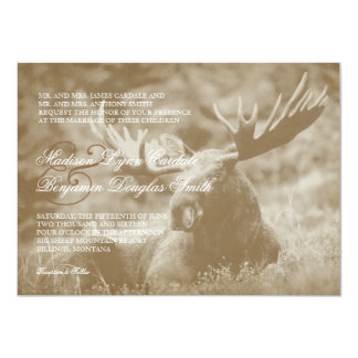 Moose Big Game Wildlife Antlers Wedding Invitation