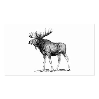 Moose Double-Sided Standard Business Cards (Pack Of 100)