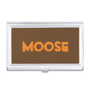 Moose business card holders cases zazzle moose business card holder colourmoves