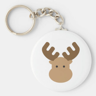 Moose Button Keychain