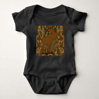 Moose Camouflage Baby Bodysuit