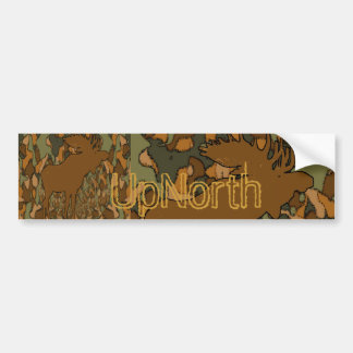 Moose Camouflage Gifts and Invitations Bumper Sticker