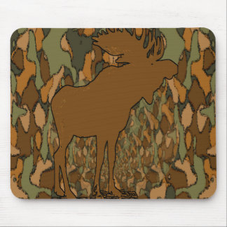 Moose Camouflage Gifts and Invitations Mouse Pad